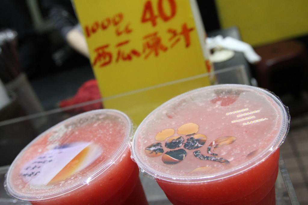 「西瓜源汁」、百パーセントのスイカジュース