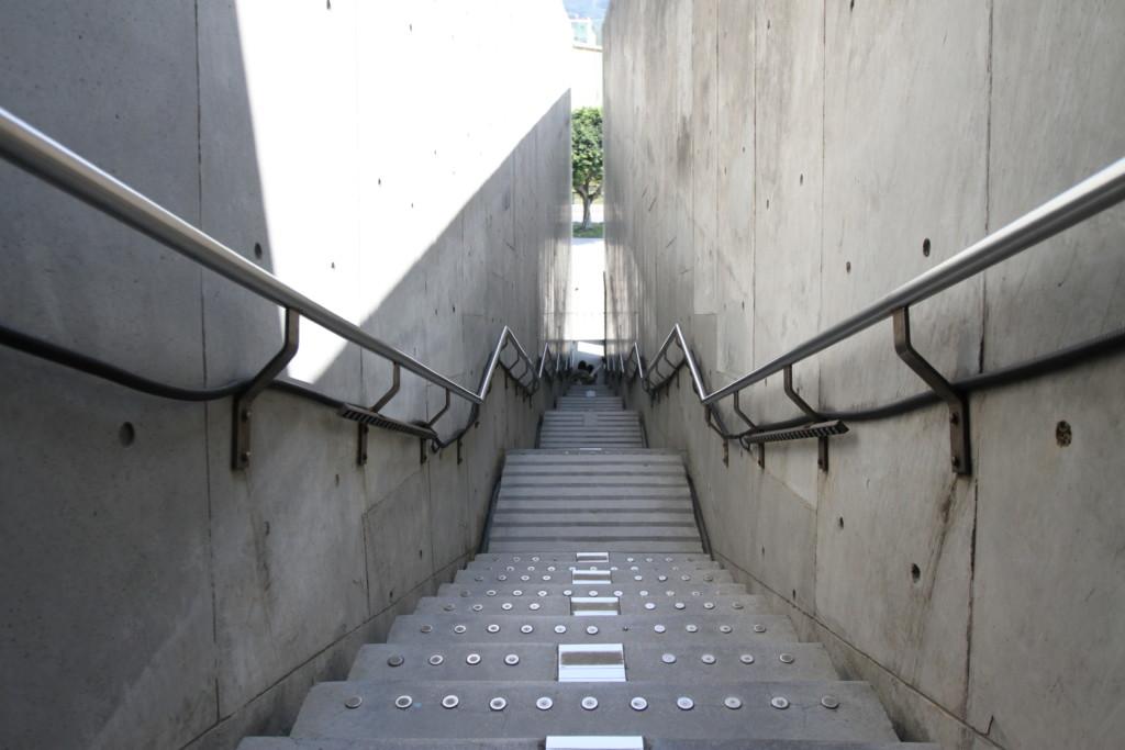博物館の出口にある大階段