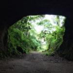 トンネルの「ゴール」へ到着