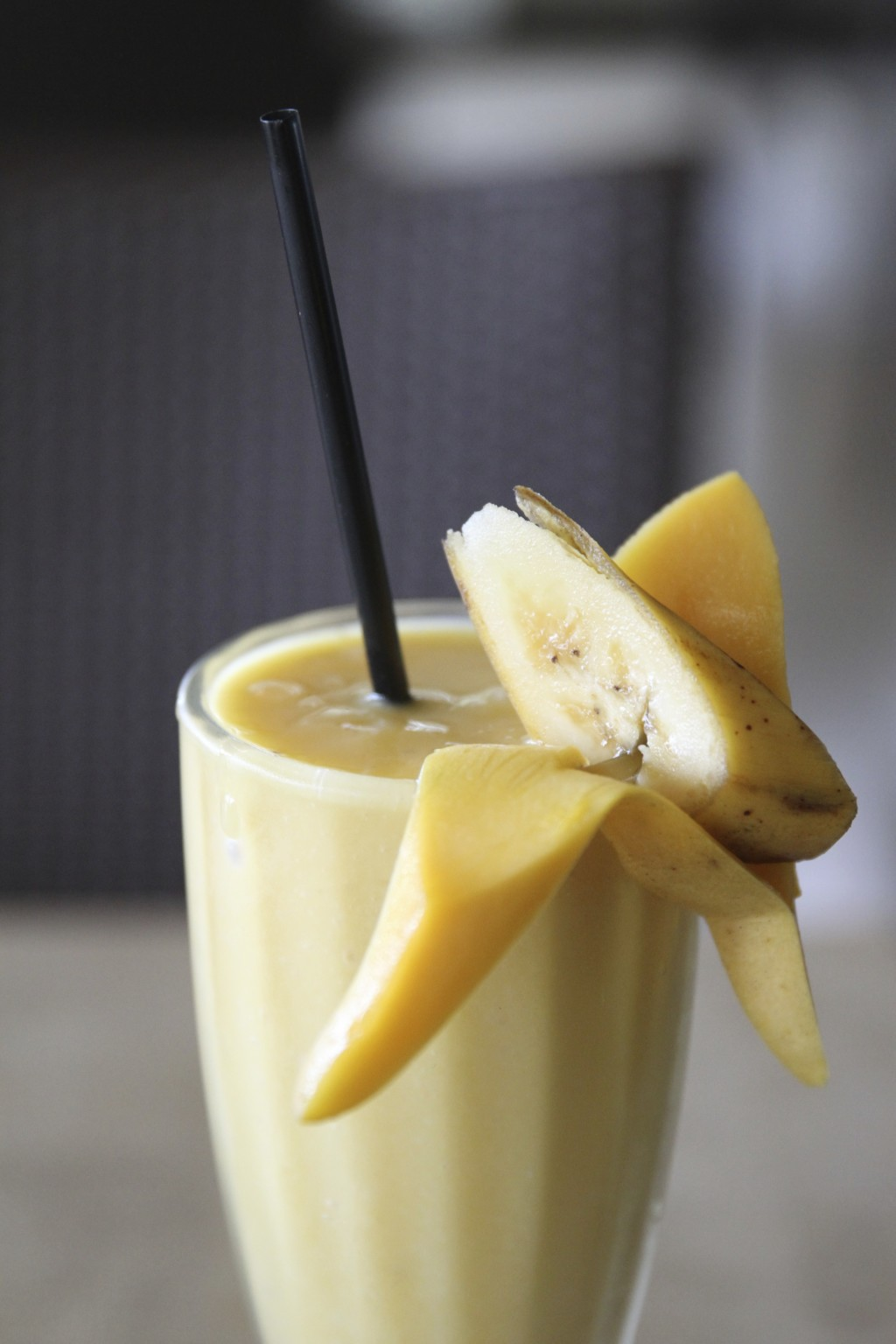 バナナジュース。フィリピンバナナの安定した甘さが楽しめる