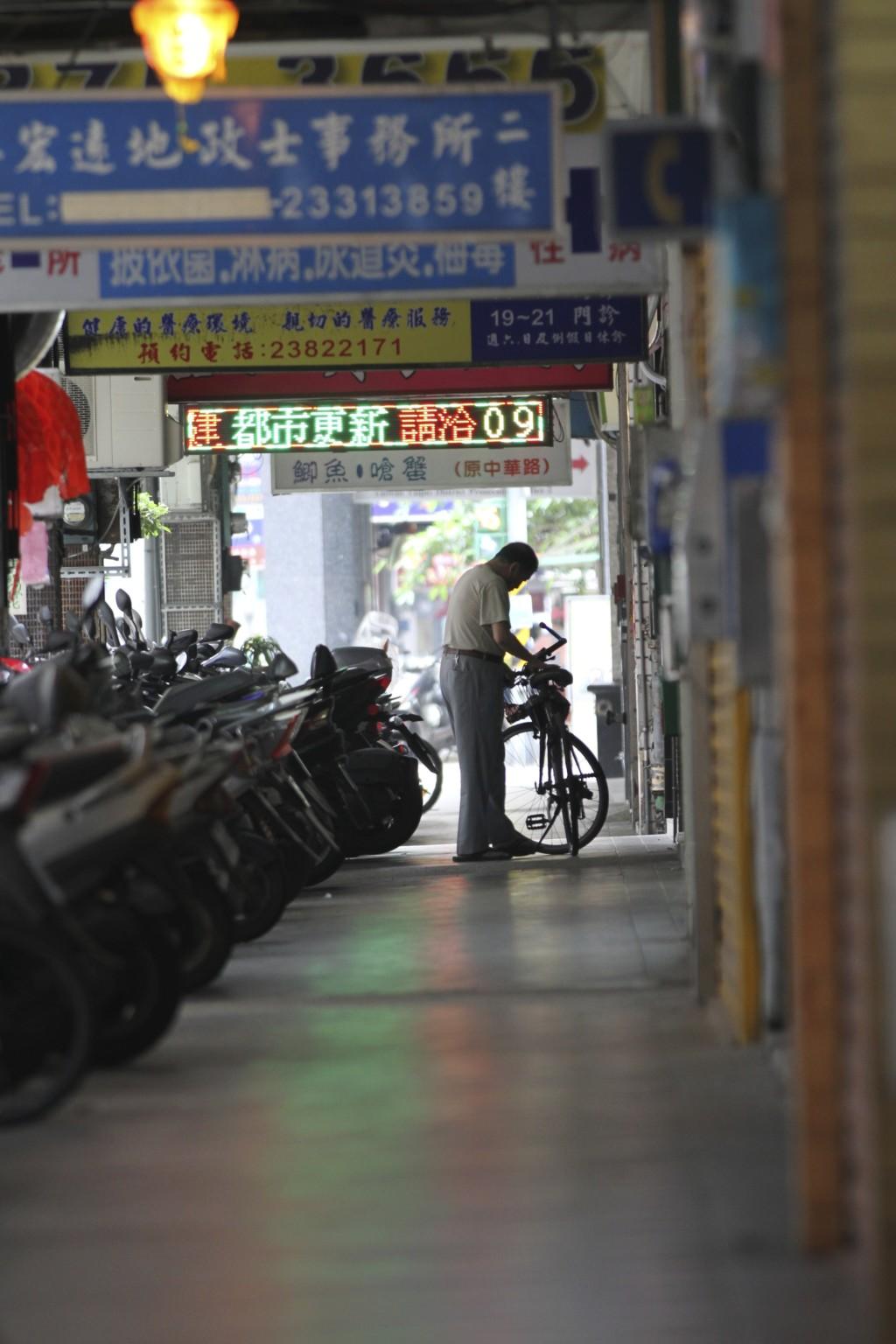 万華における軒下歩道「騎楼」の例(2)