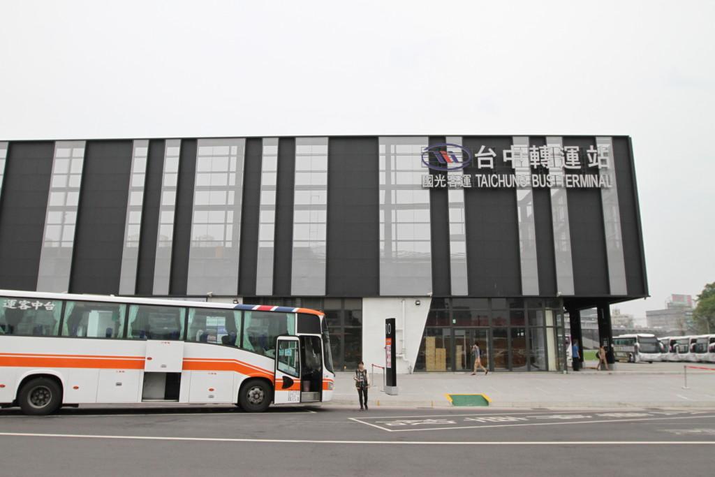 台北からの直行バスで、台中へやって来た
