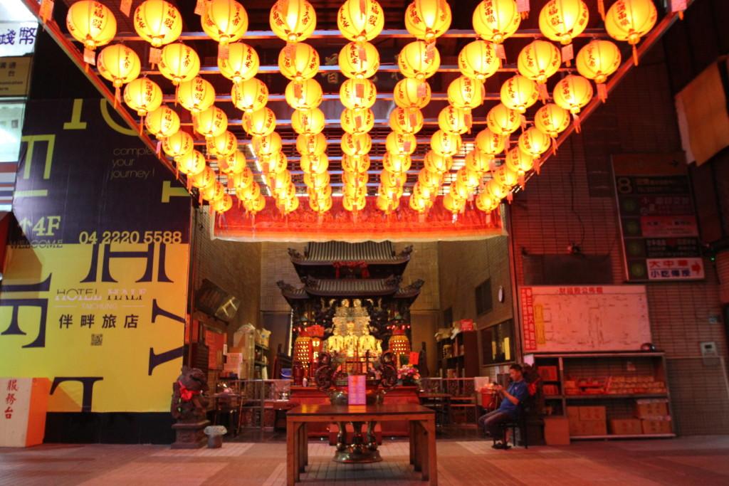 台中第一廣場にある「財福殿」