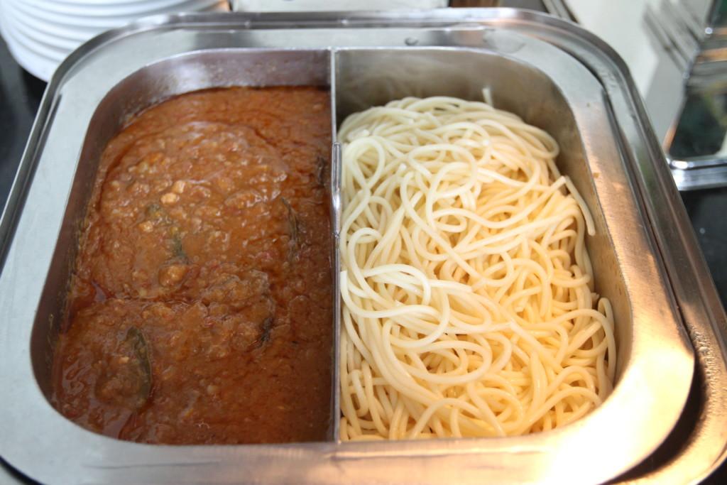 ミートスパゲティ、パスタ麺