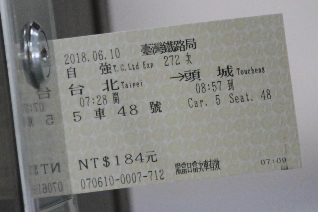 入手した切符