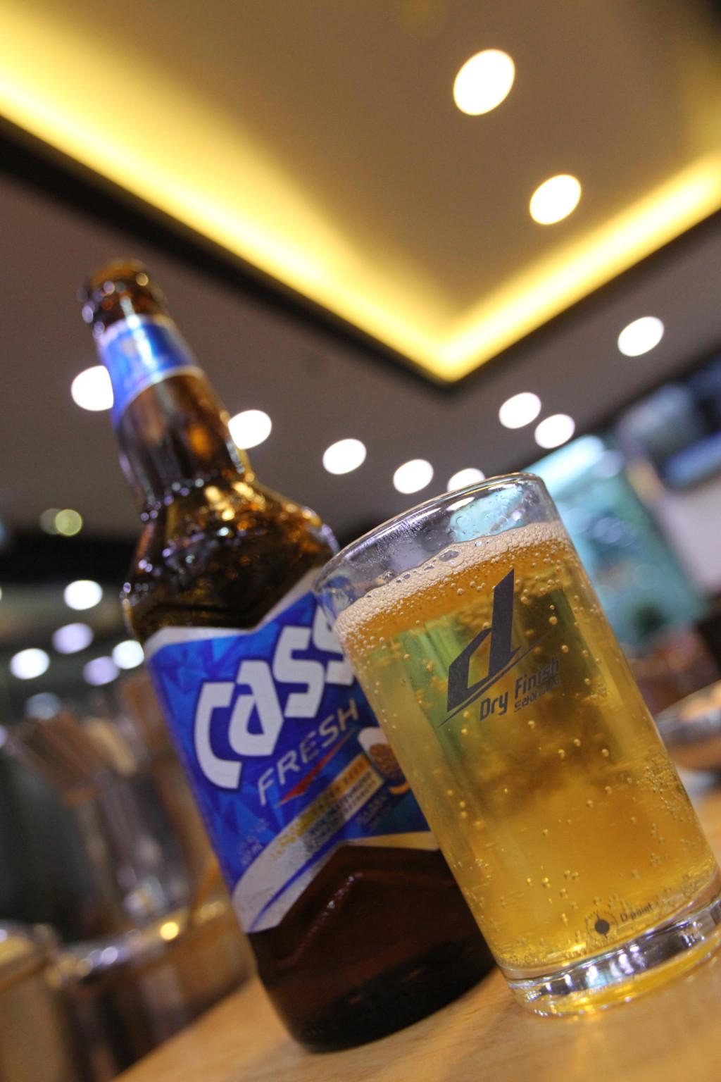 韓国産ビール「Cass」