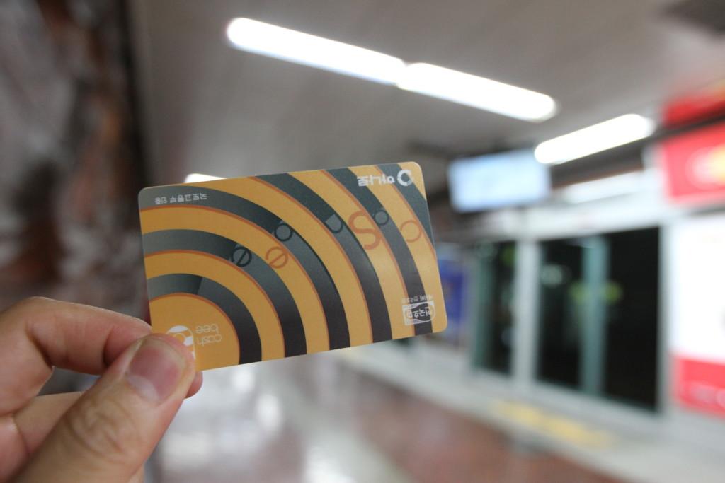 地下鉄のカードをゲット