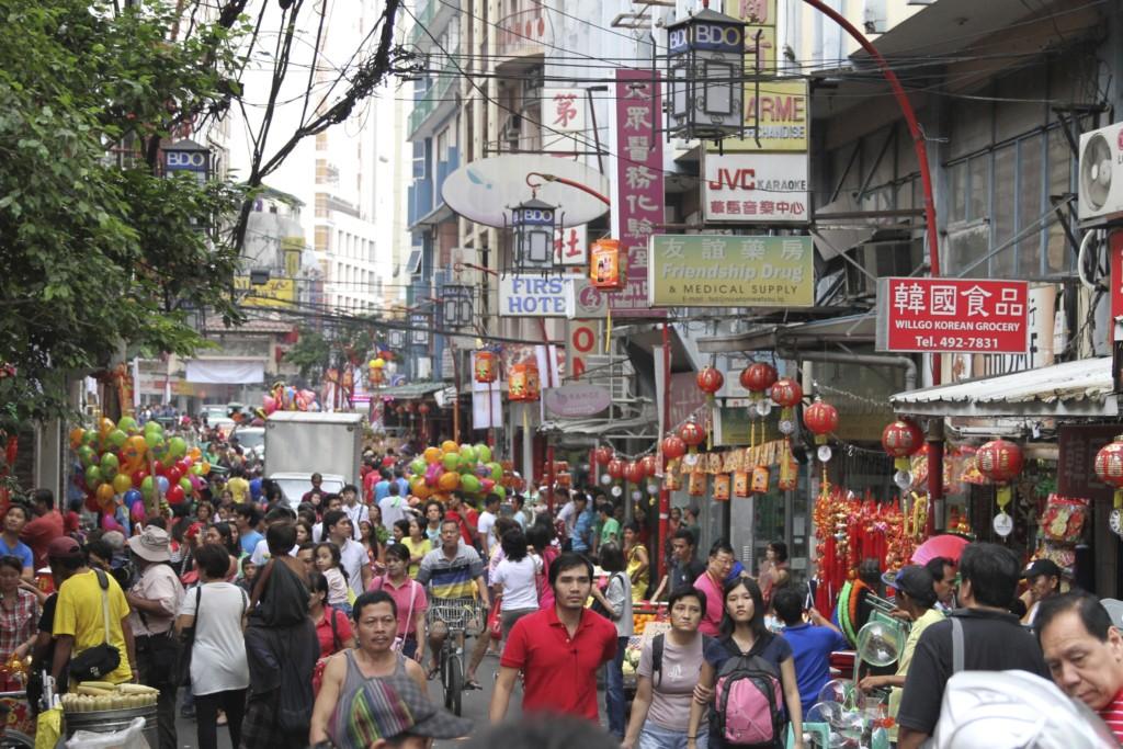 中華街のメインストリート「Ongpin Street」