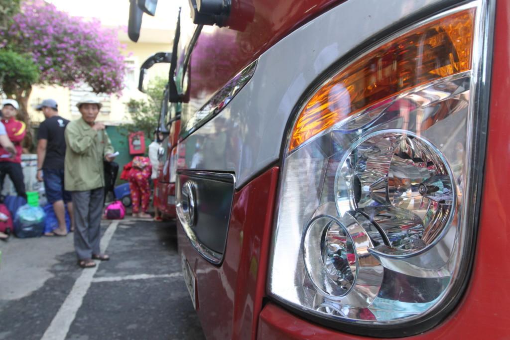 寝台バスの車体 アングル1