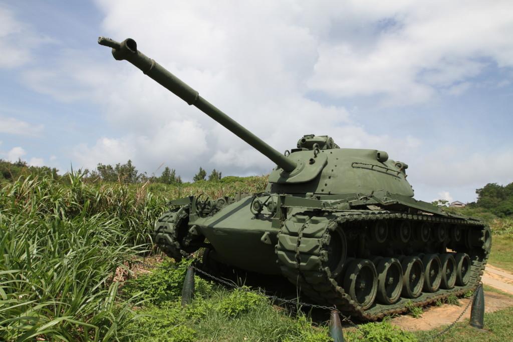いまにも動きそうな戦車