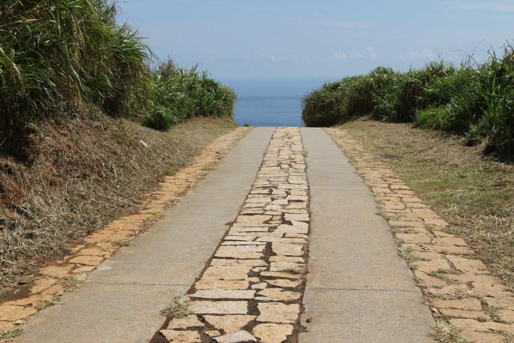 整備された道路(南竿島)