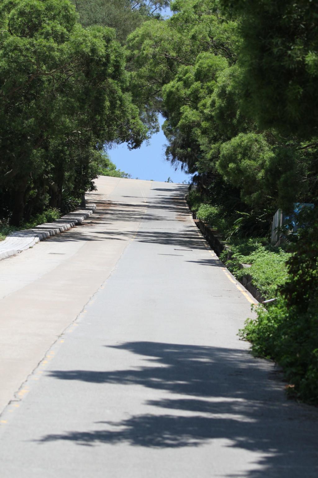 整備された道路(北竿島)