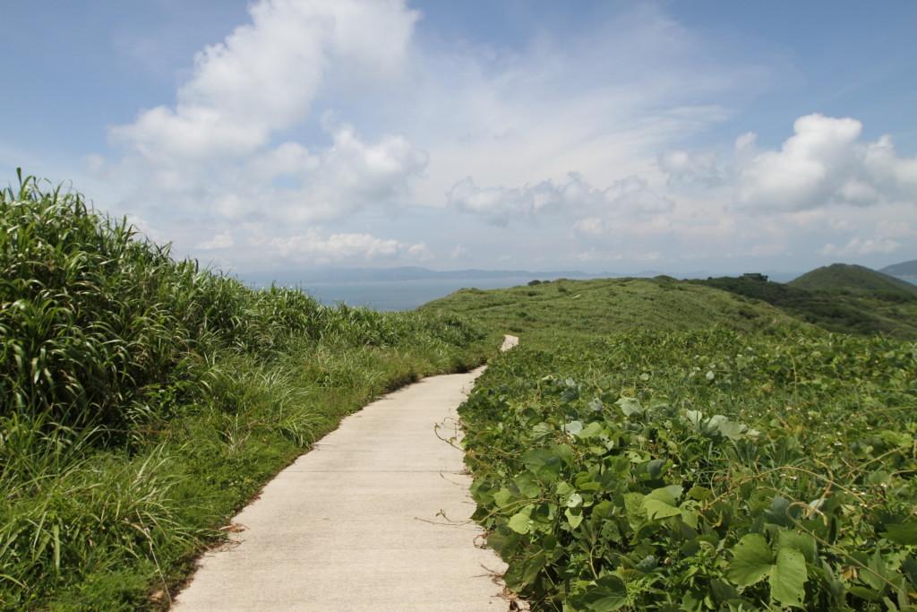 「尼姑山」へ向かうルート