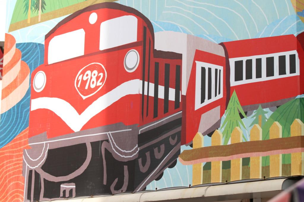 嘉義市内でちょくちょく見る、「素朴アート」