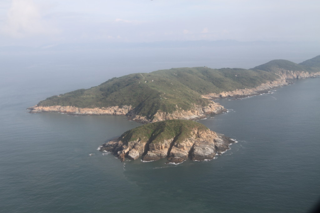 「北竿」の島が見えた 1