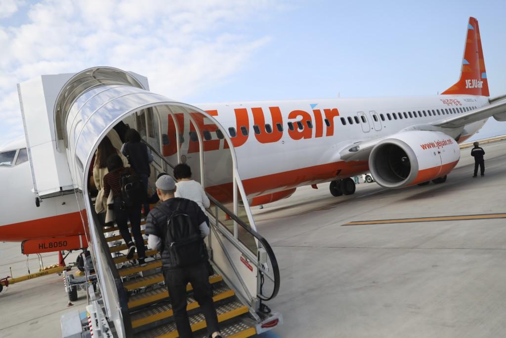 チェジュ航空で釜山へ出発