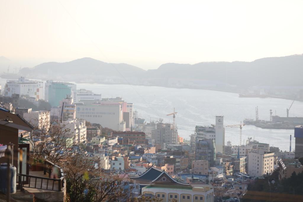 甘川文化村から港を見下ろす