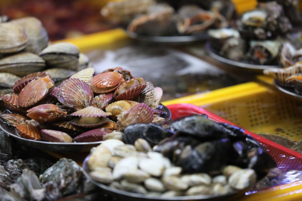 ありとあらゆる海鮮食材が揃う