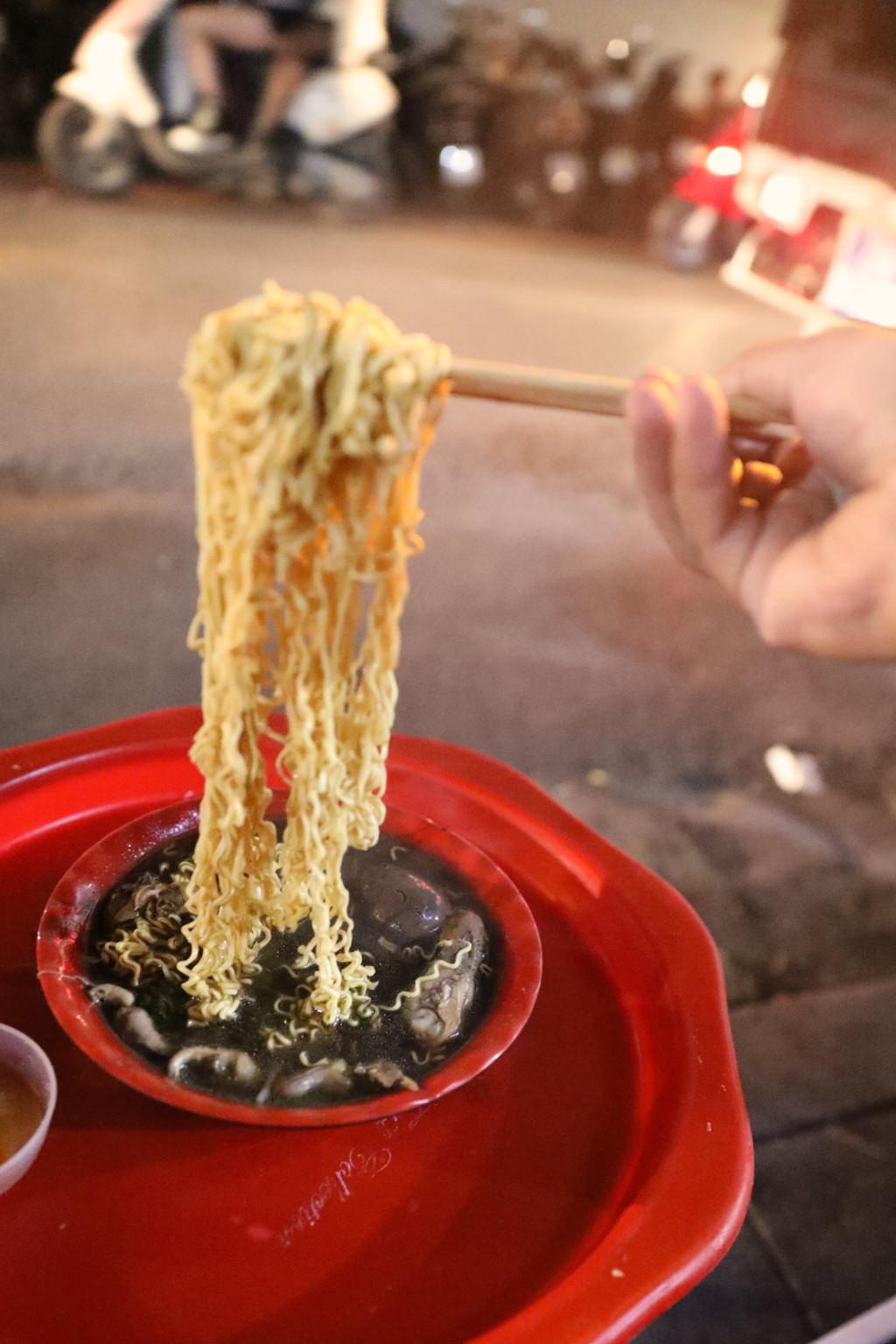 ボリュームたっぷりの麺