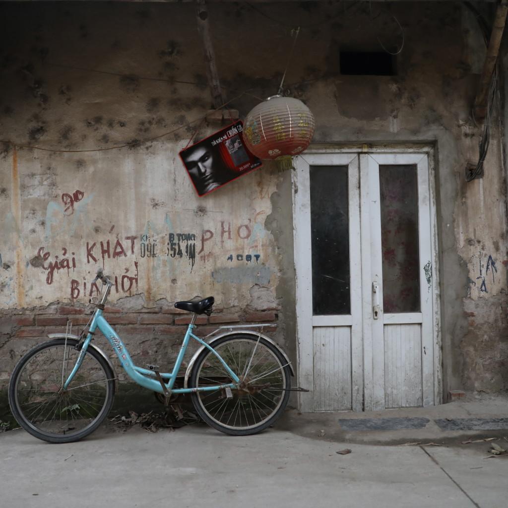 軒先の自転車