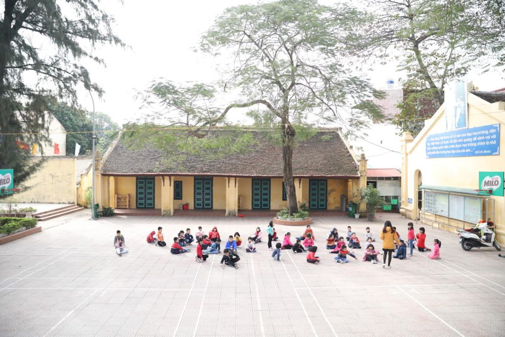 素朴な雰囲気の小学校