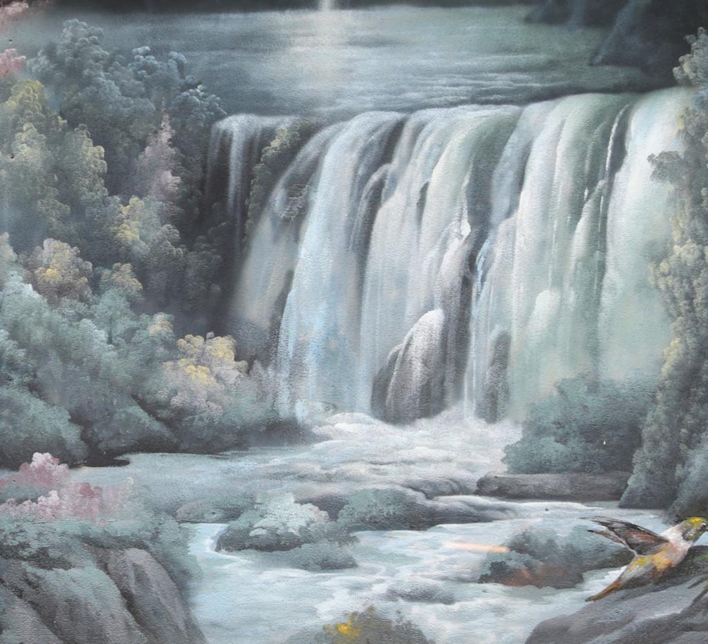 壁画アート「滝」