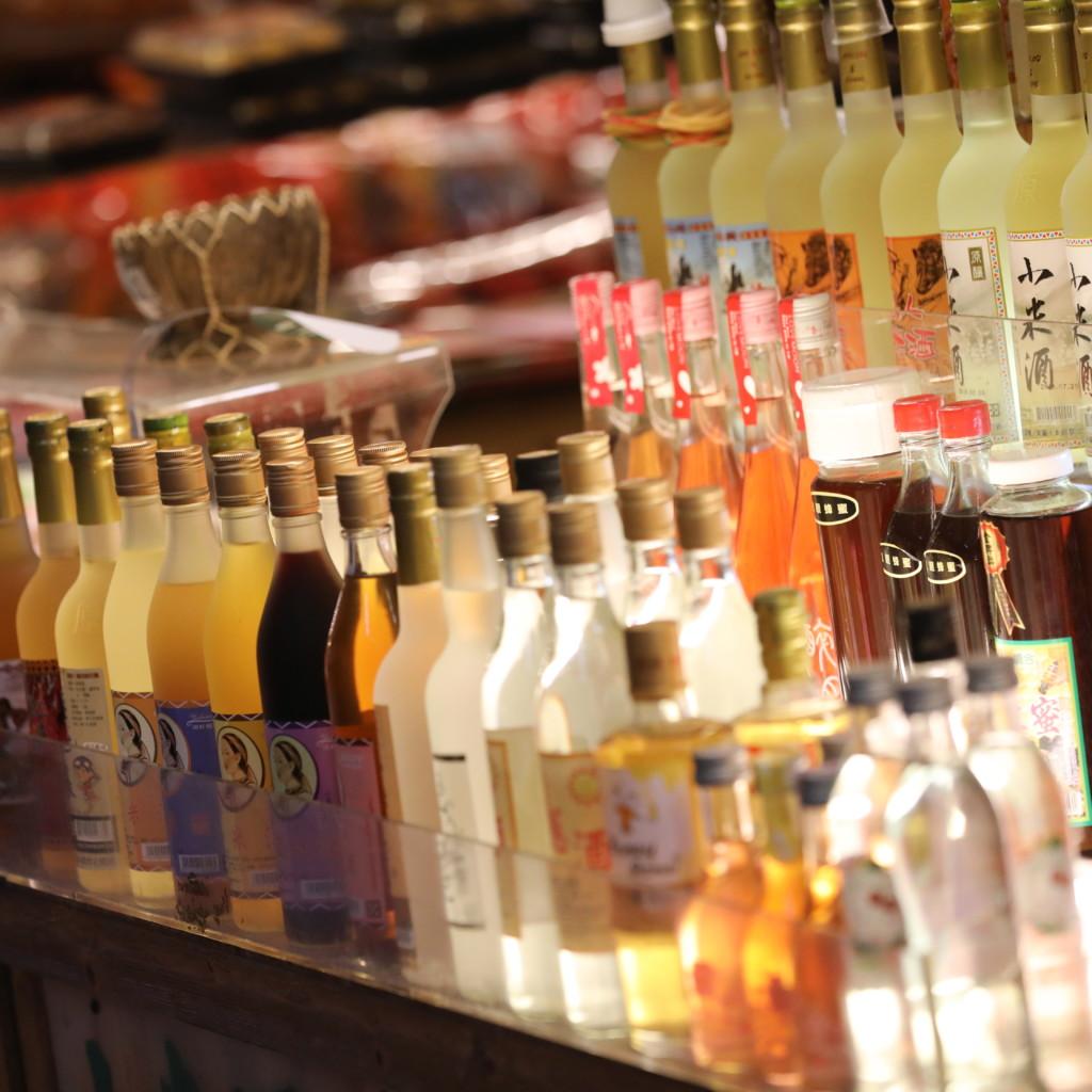 酒類は品数豊富
