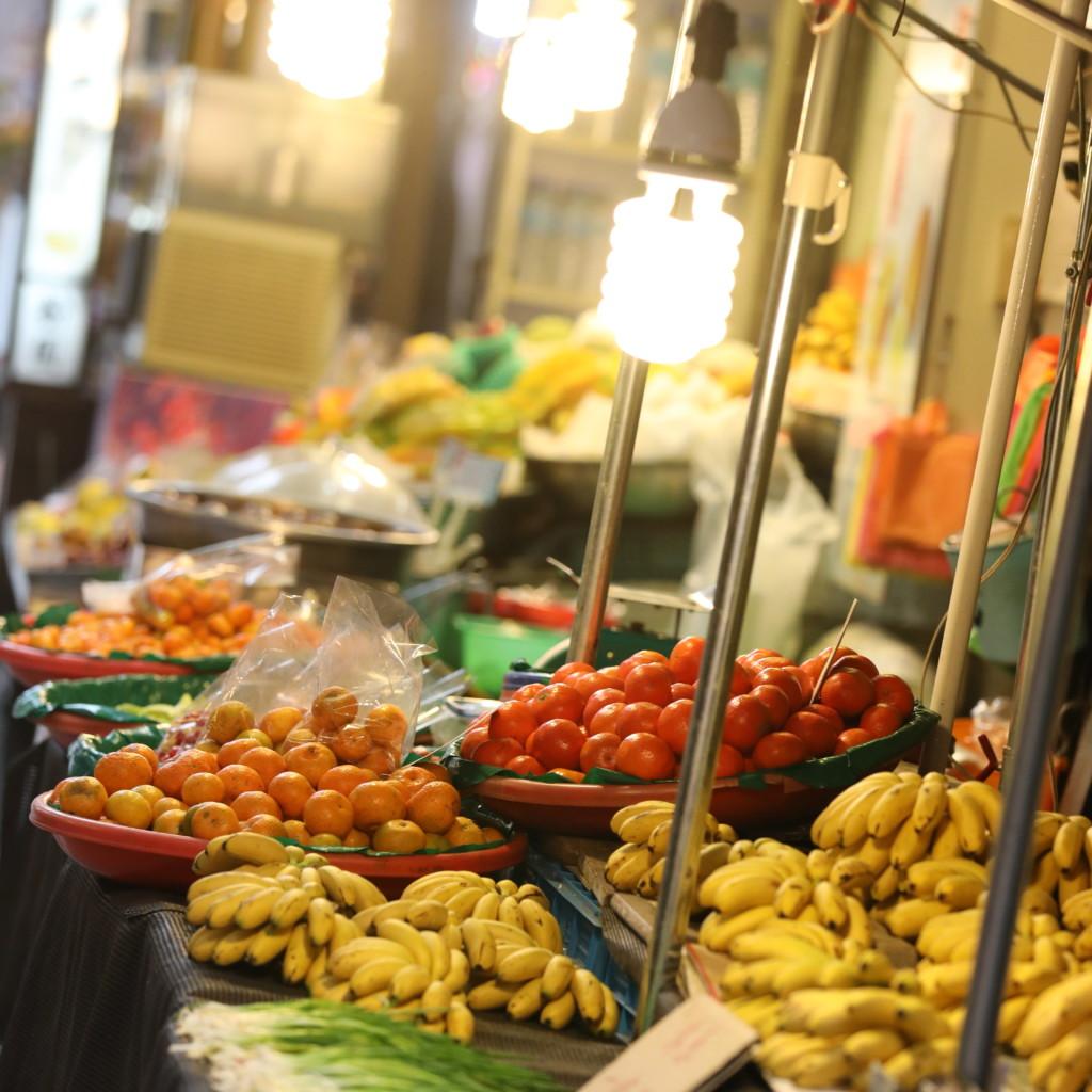 果物の露天商