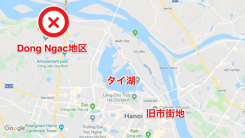 Dong Ngac地区の場所